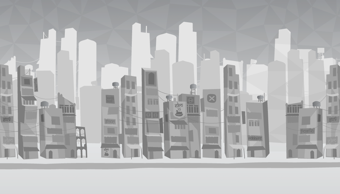 Working out a city background.