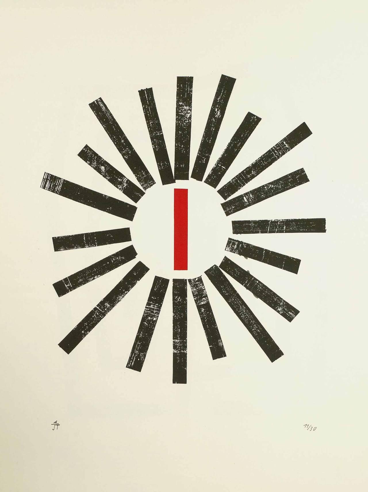 design-is-fine - Anton Stankowski, Spiel und Gleichnis / Game and Allegory, n.d. Serigraph. Via Kiefer