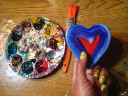 Happy Love Day, Every Day - a painted heart box by Ladessa Sullivan / CandyAcidReign