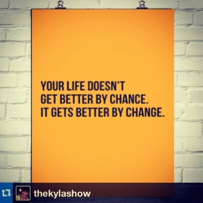 #Repost from @thekylashow #ChangeIsGood