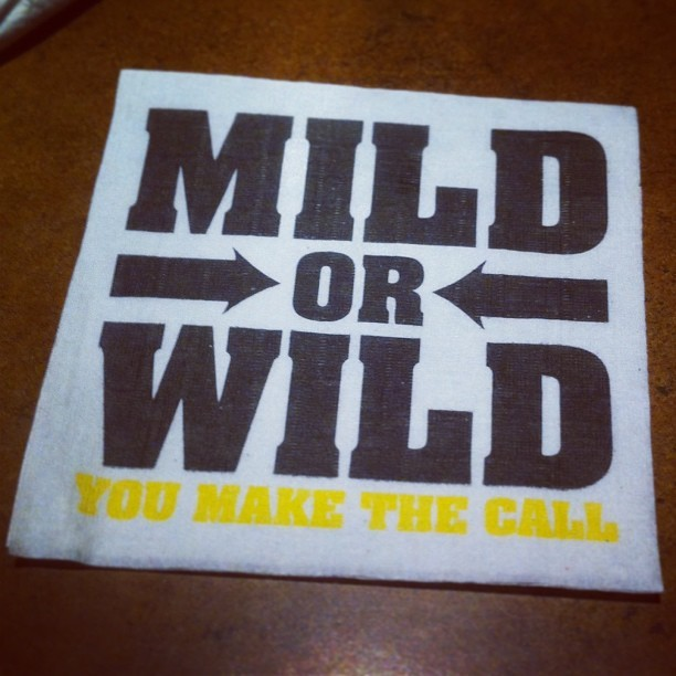 I went for wild. #food #buffalo #wild #wings