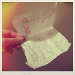 trash around the house becomes laptops & phones. a Burger King fries wrapper- what the heck, kiddo?