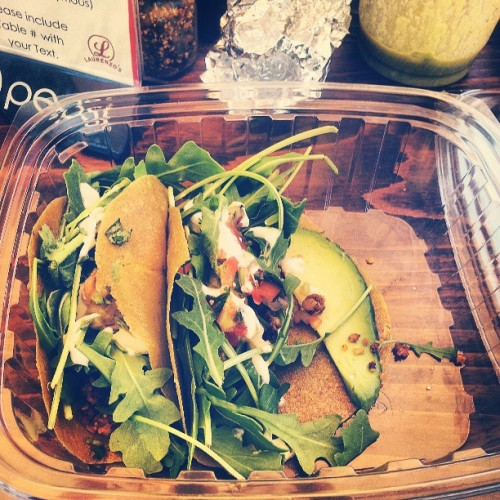 Raw rockin' coconut tacos at @greenseedvegan :) so good !!