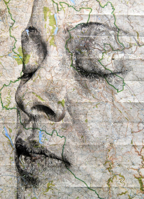 mapsontheweb:  Peak District Portrait - by Ed Fairburn Source