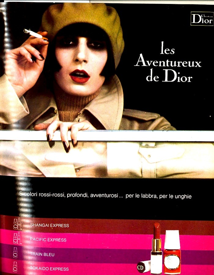 Anjelica Huston for Dior, 1973