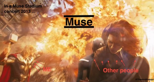 In a Muse stadium concert