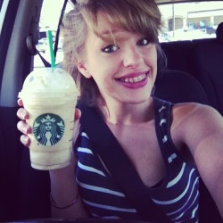 First frapp of the summer. #starbucks #happy_girl
