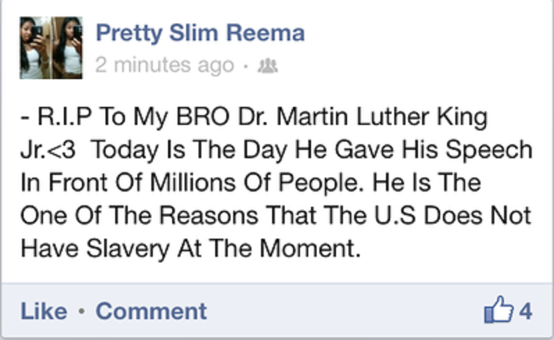 MLK day Is for everyone, even the idiots