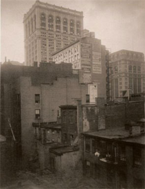 "Alfred Stieglitz, From the Back Window - ""291""- N.Y., Summer 1914, gelatin silver print."