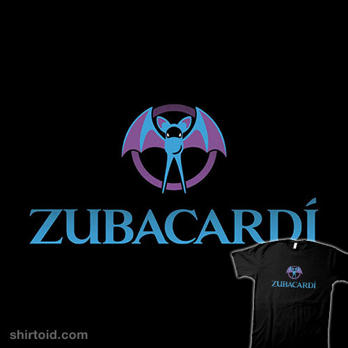 shirtoid:  Zubacardí by thom2maro is $15.99 for a limited time at Gimmick Tees