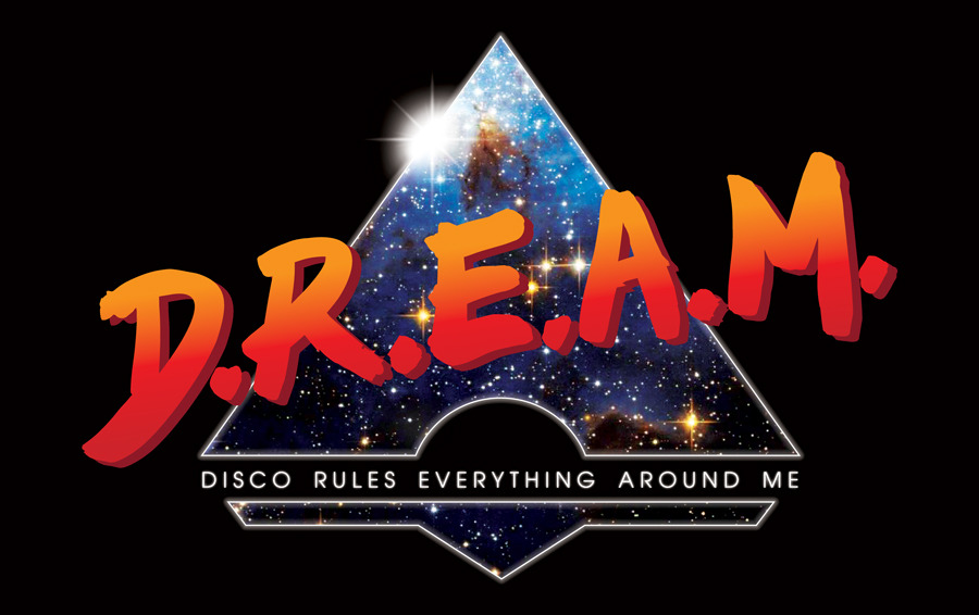 "gregbunbury:  ""D.R.E.A.M. - Disco Rules Everything Around Me"". I was trying to write something funny for Twitter about the Daft Punk album, which I've had on repeat for the past two days. This popped into my head, and I just had to do a quick graphic on it. Might do it as a t-shirt."