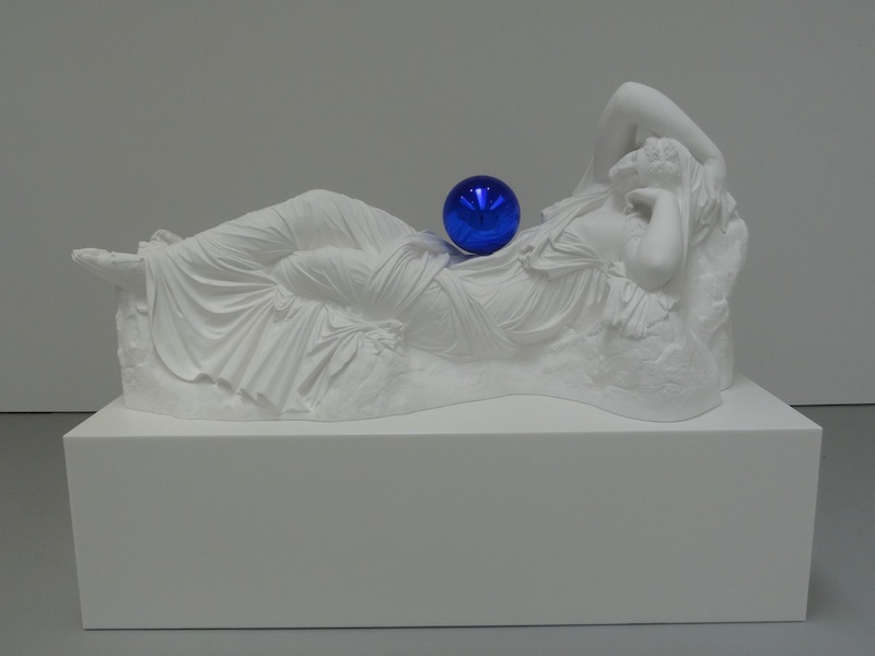 Another of Jeff Koons's sculptures from Gazing Ball (through June 29) at David Zwirner.