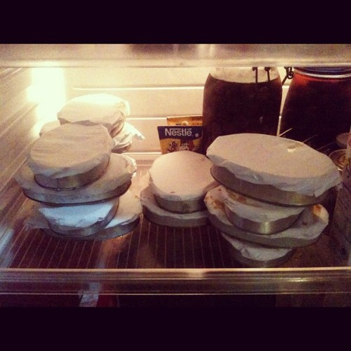 LOADS of Leche Flan in our ref!!! 😳😲😭 #flan #tearsofjoy
