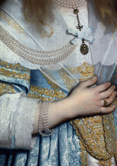 c0ssette:  Portrait of a girl,1645 (detail) Bartholomeus van der Helst.