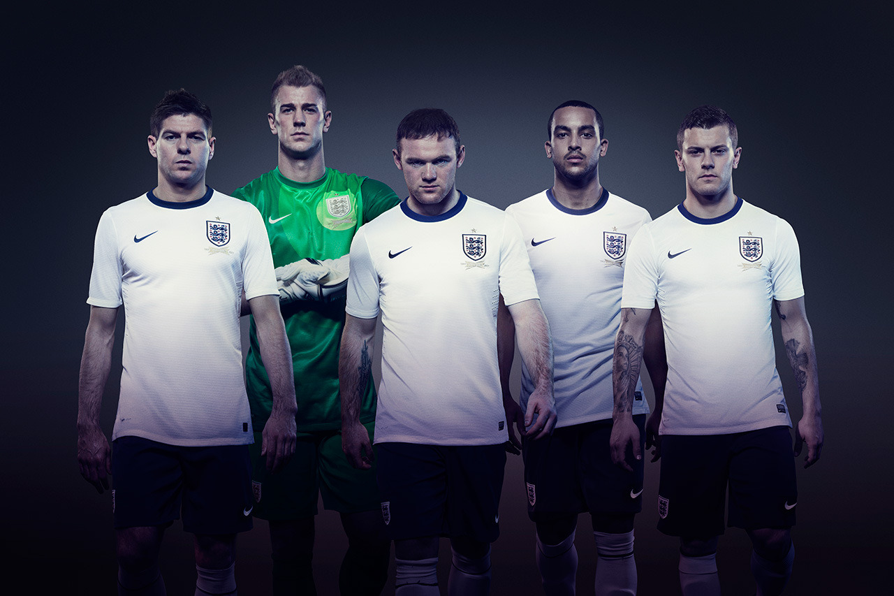 The Nike 2013 England home kit. Plain, but nice.