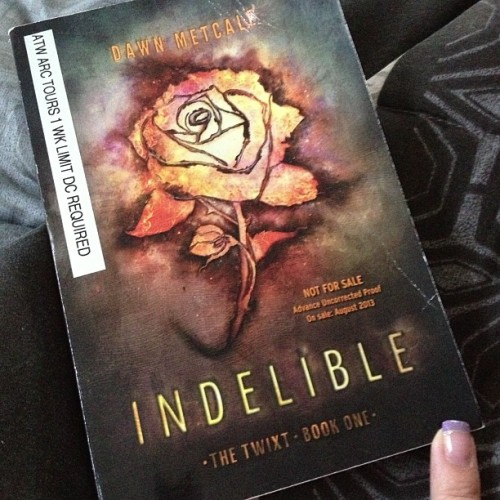 Currently #reading #Indelible by Dawn Metcalf. Only 57 pages in & so much is going in. @harlequinteen