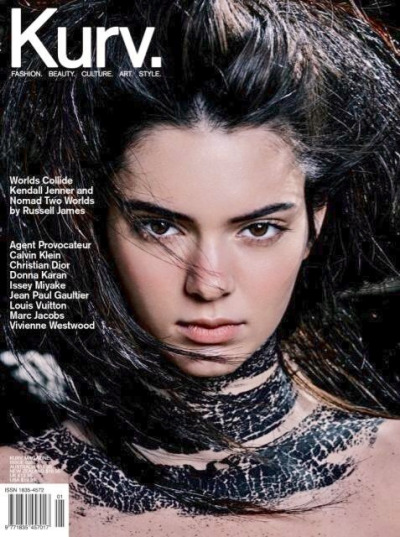 Kendall Jenner graces he cover for Kurv Magazine