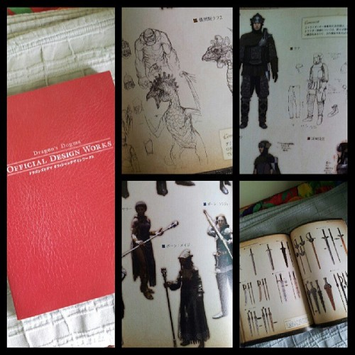 Dragon's Dogma Art Book. One of my Osaka finds. I spent three hours in Mandarake browsing and this is my only find. I'm using it as reference for an Instagram comic I'm planning