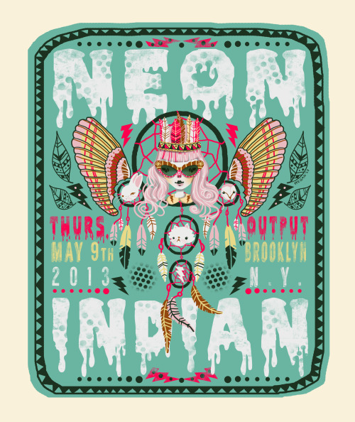Felt like gettin' psychedelic, so I made a @NeonIndian poster. © megan inghram
