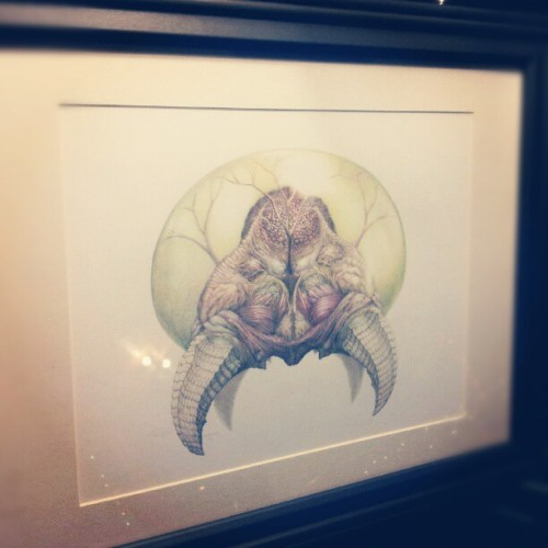 "This Saturday, I'll be showing the original pencil illustration ""Metroid Physiology"" to the public for the first time at The Falcon's ""Cream"" art show."