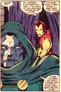 "jthenr-comics-vault:  ""…Errand boy!""Iron Man #149 (August 1981)""DOOMQUEST""Art by John Romita Jr. & Bob LaytonStory by David Michelinie"