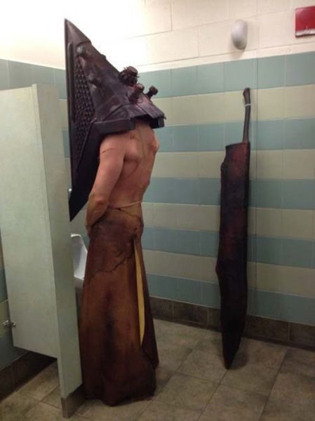 meme4u:  http://memeblock.com/    LMFAO even pyramid head takes piss breaks apparently?