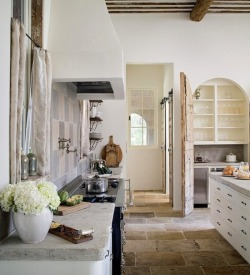 myidealhome:   rustic white kitchen