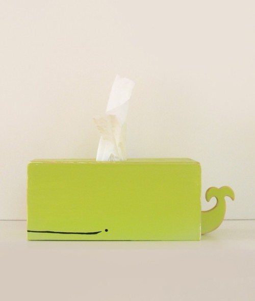 Whale Tissue Holder Green by SparklyPony Cutest tissue holder ever.