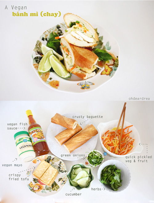 veganfoody:  Easy and Delicious Bahn Mi (Chay) Sandwich