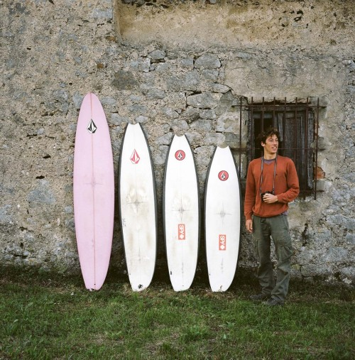 Videos of Ryan Surfing Mundaka coming this month and April to www.regressingforward.com and www.korduroy.tv outofreception:   Ryan Burch and his quiver of hand shaped Asymmetrical Surf Boards