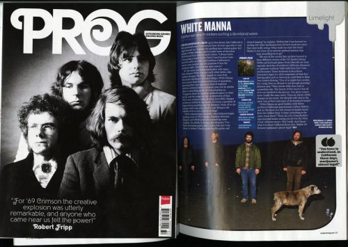 "White Manna in the latest issue of Progressive Rock Magazine. Photo by me. ""Degenerately Progressive."""