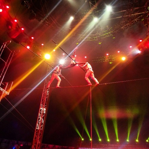 #highwire #tightrope (at universoul circus Roy Wilkins Park)