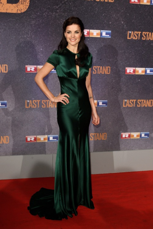 30s vibe fashionbygettyimages:  Jaimie Alexander attended the 'The Last Stand' Cologne Premiere wearing a  Marc Bouwer Fall 2008 gown.  … sometimes it's really worth to rediscover elder collections - she simply looked stunning Source: gettyimages.com