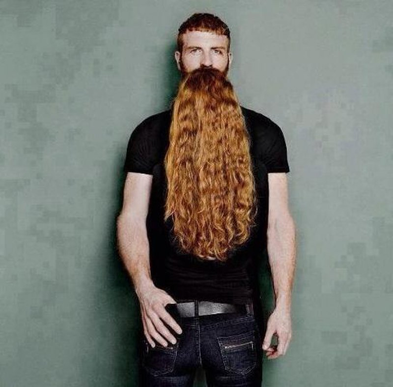 collegehumor:  Crazy Beard Illusion That Will Break Your Brain He's been growing it for almost 25 years.