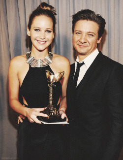 Jennifer Lawrence and Jeremy Renner | 2013 Film Independent Spirit Awards (Feb 23)