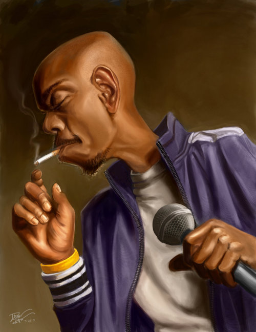 theendingbegins:  Dave Chapelle Bitch   Would be perfect if he was smoking a joint.