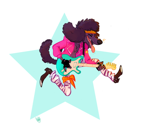80s Pup~ Available as prints and stuff at Society6.