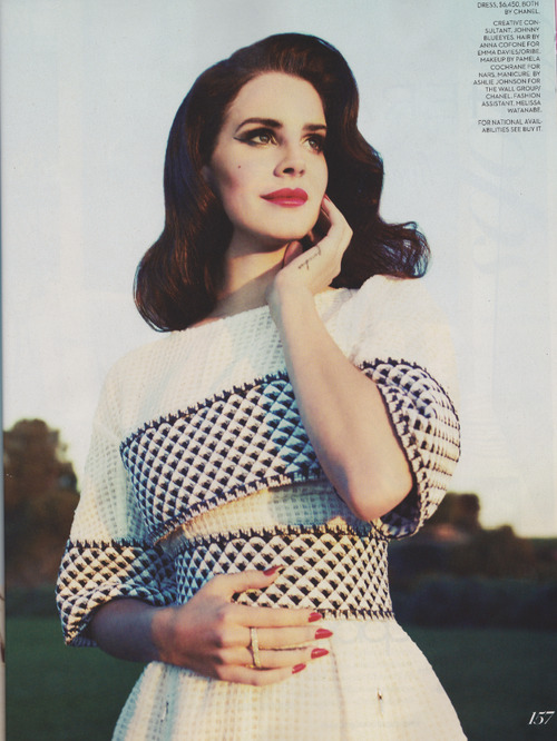 marlangiie:  Lana Del Rey - Fashion Magazine | via Facebook auf We Heart It. http://weheartit.com/entry/61063097/via/MissFabdoll