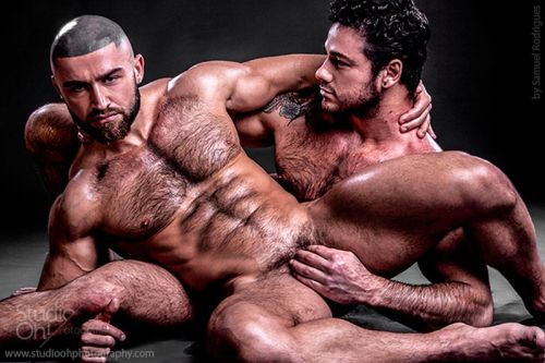 biggaytiger:  Lover's Lounge:  Francois Sagat and Jonathan Best  photographed by Samuel Rodrigues