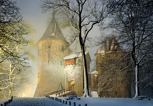 Winter's Night, Castle Coch, Wales photo by welshio