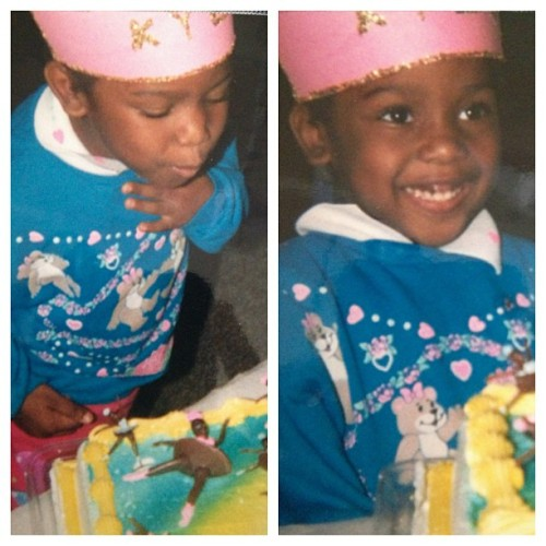 Princess Kyla! This was my 5th birthday I think, so this was 1996. Look at that #dainty candle blow hahaha! Ooh, and that sweater! #90sbaby #tbt