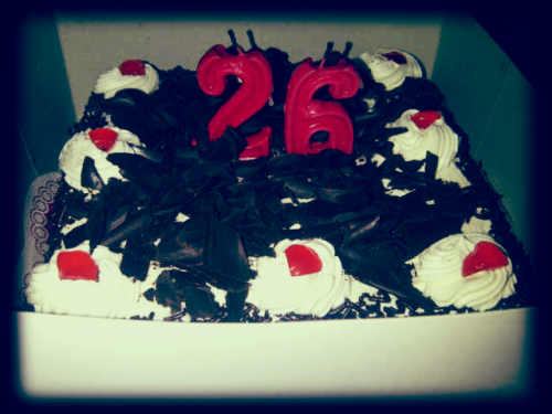 My birthday cake 26th from my great family <3