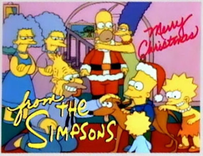 "comedynerdsunited:  Happy Anniversary! ""Simpsons Roasting on an Open Fire"", the very first episode of The Simpsons, aired December 17th, 1989 (23 years ago today)."