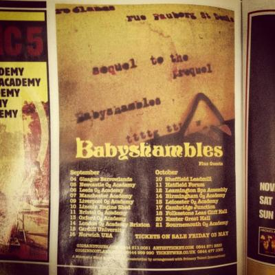 listlesshours:  Babyshambles tour 2013 This makes me VERY happy