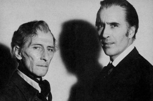 monsterman:  Peter Cushing and Christopher Lee