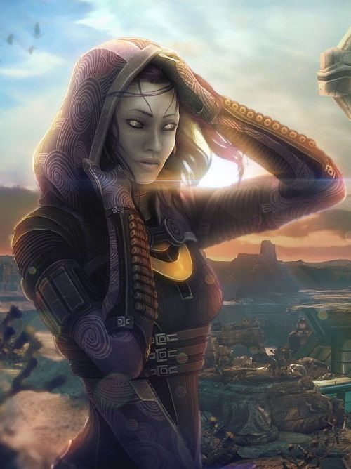 Tali'Zorah vas Rannoch by ~brinx2 Download Full 1080p Image