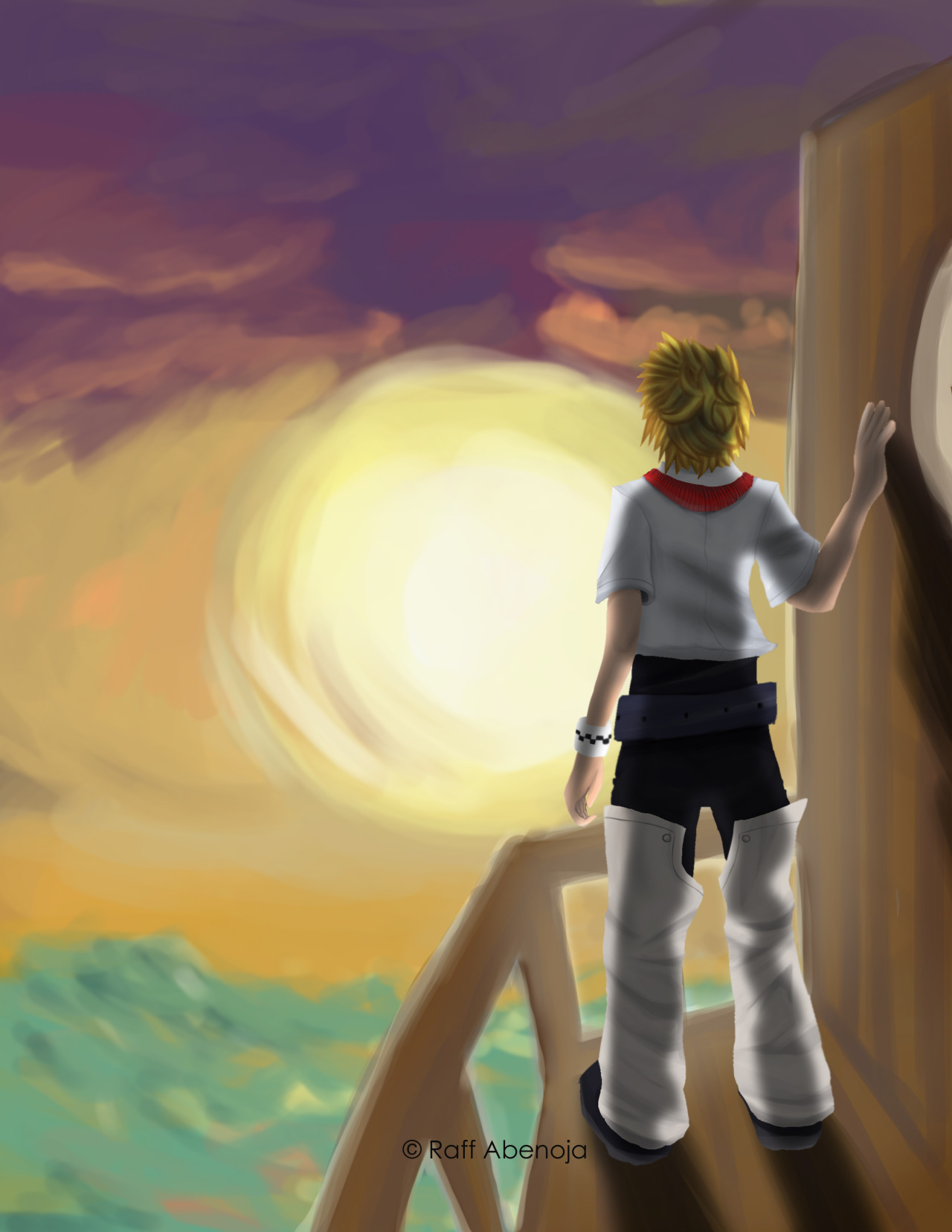 """Sometimes I don't even know myself anymore…""-Roxas, Kingdom Hearts seriesDrawn with AdobePhotoshopCS5Roxas and Kindom Hearts owned by Square Enix"