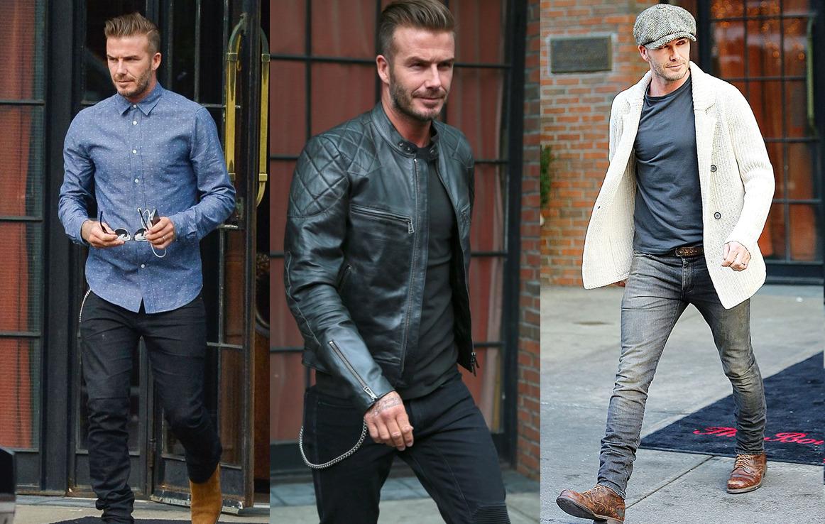 Star Street Style David Beckham Casual Fall