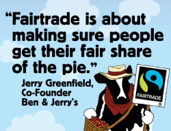 As we continue our journey to become fully Fairtrade, we're excited to announce we'll be partnering with Fairtrade International to certify our products in the US. You will see their logo adorning all our ice cream, frozen yogurts, and sorbets by the end of this year.