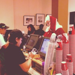 yes, even #santa drinks #starbucks!  (at Starbucks)